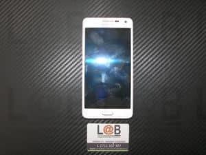 Αντικατάσταση οθόνης σε λευκό τηλέφωνο Samsung Galaxy A500 (2015)